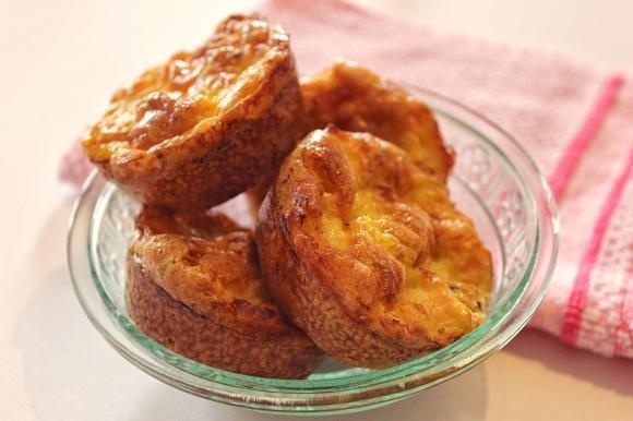 Muffin di frittata con pancetta e rosmarino