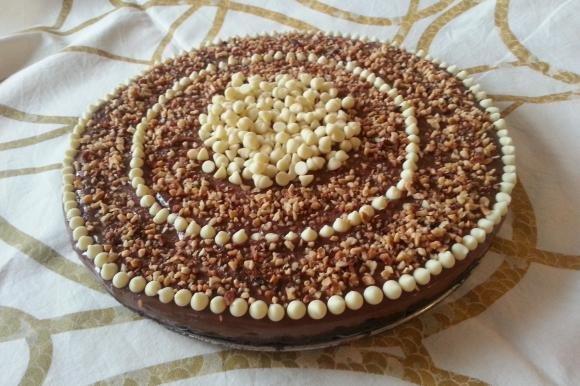 Cheesecake al cioccolato fondente senza cottura