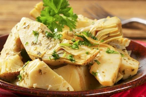 Carciofi aglio e menta