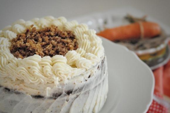 Carrot cake con frosting al formaggio