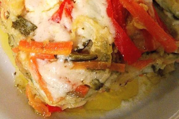 Lasagne con verdure e pesto