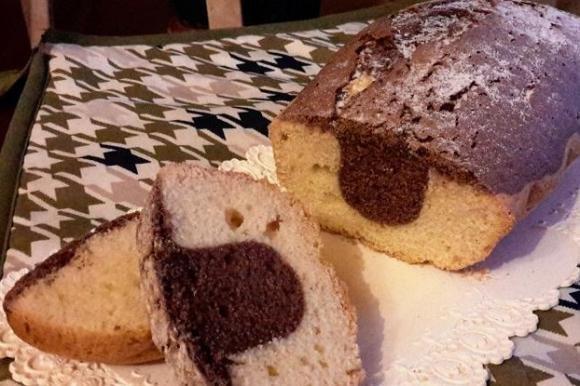 Plumcake doppio gusto senza latte e senza burro Bimby