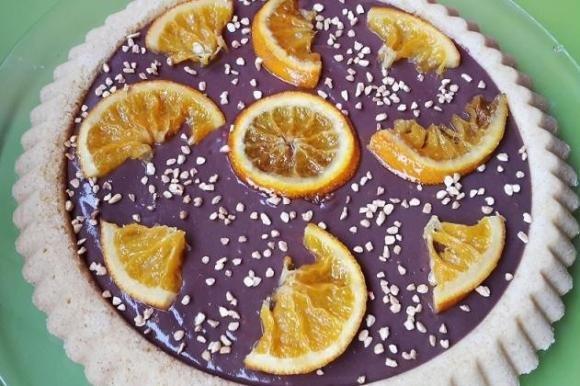 Crostata morbida alle arance e crema al cioccolato Bimby