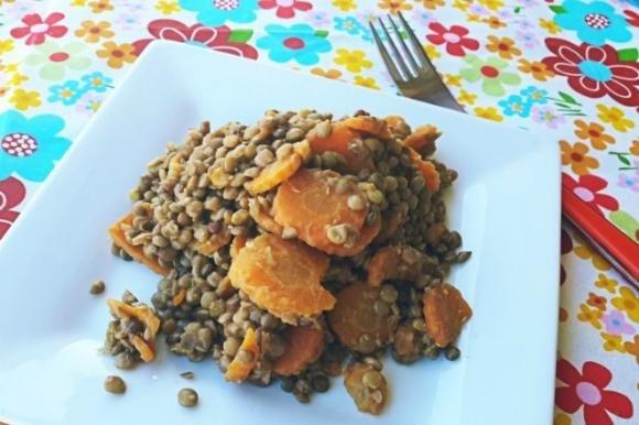 Lenticchie e carote stufate