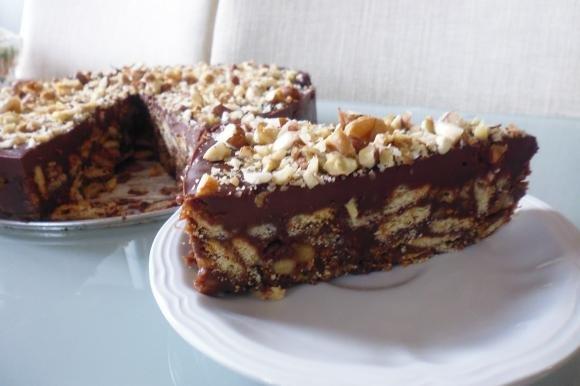 Torta biscotto al cioccolato