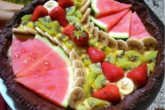 Crostata di frutta al cacao