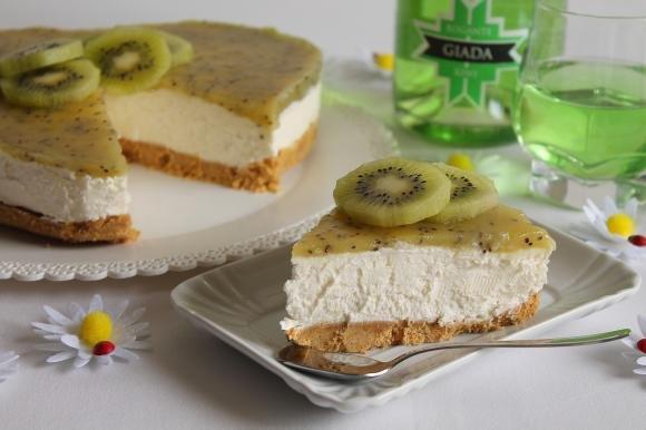 Cheesecake fresca ai kiwi