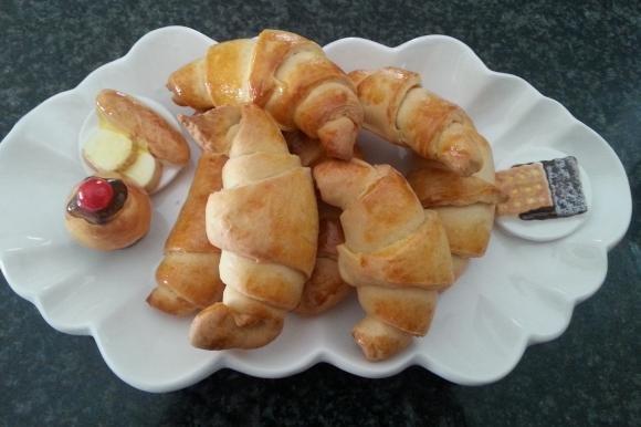 Cornetti salati senza burro e senza uova