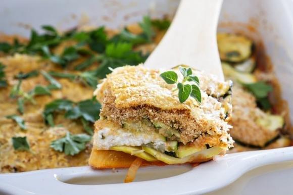 Zucchine gratinate al forno con ricotta