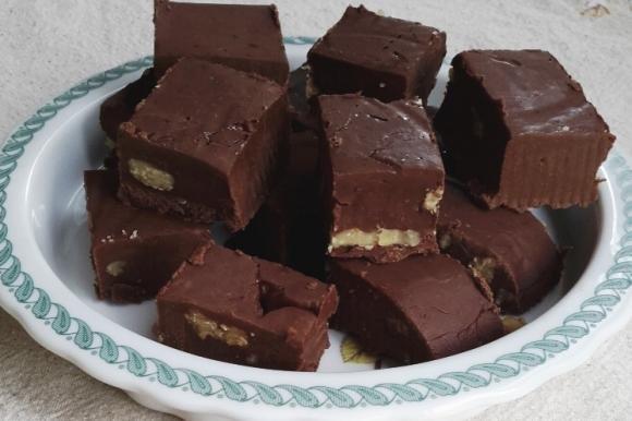 Fudge con cioccolato e noci