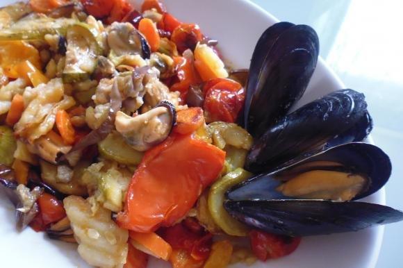 Cozze con verdure