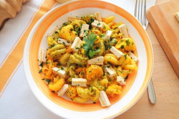 Pasta al pesto di carote