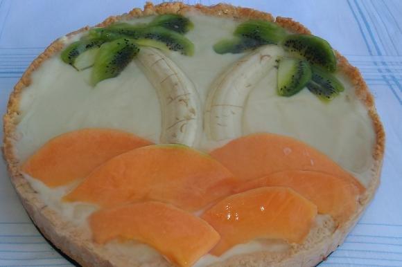 Crostata di frutta con crema senza lattosio e farina di farro