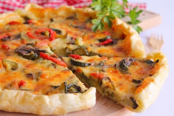 Torta salata con verdure e Galbanino