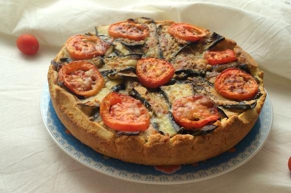 Torta salata con ricotta e melanzane