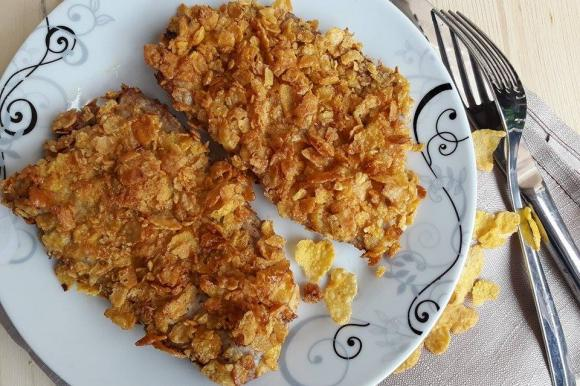 Vitello con panatura croccante ai cornflakes