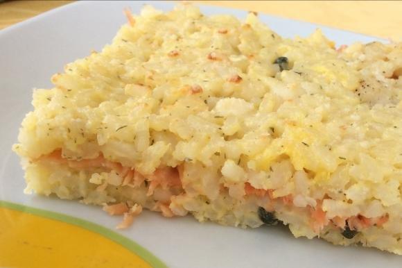 Timballo di riso con salmone affumicato