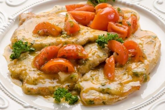 Ricetta Veloce Lonza Di Maiale.Maiale Al Vino Bianco Con Pomodorini Fidelity Cucina