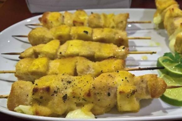 Spiedini di pollo e formaggio