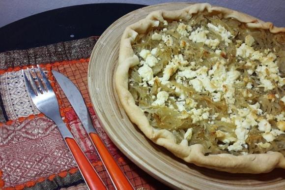 Torta salata alle cipolle