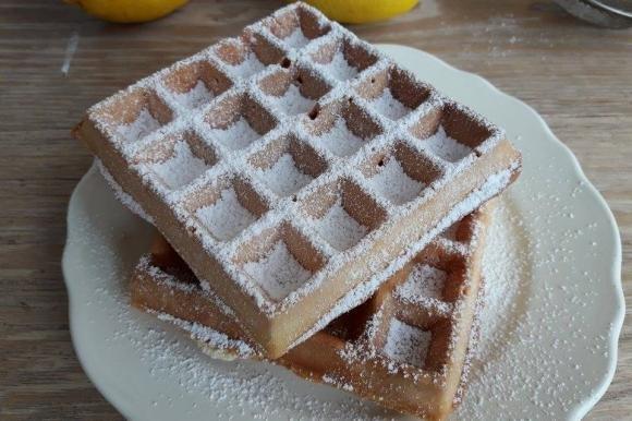 Waffle al profumo di limone