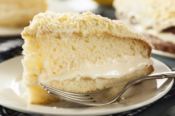Torta soffice con crema al limone