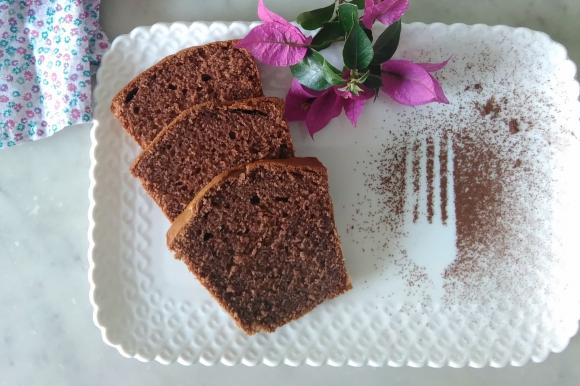 Plumcake con mascarpone e cacao