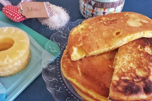Pancake senza lattosio cocco e ananas