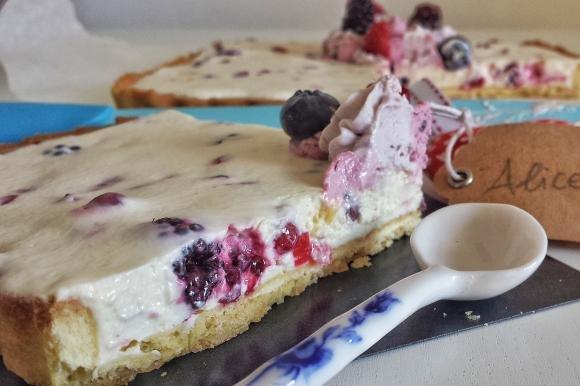 Crostata cheesecake con frutti di bosco