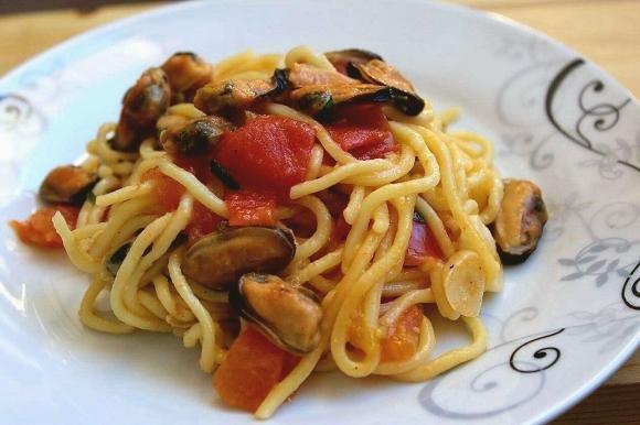 Spaghetti cozze e limone