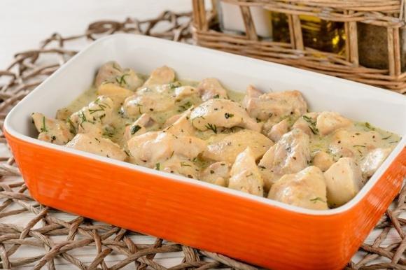 Pollo con crema al gorgonzola