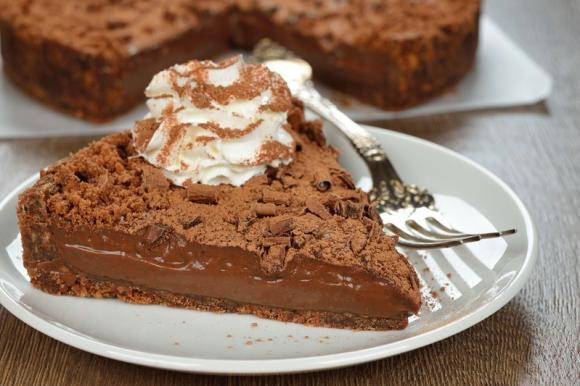 Sbriciolata al cacao con crema alla Nutella