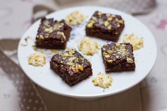 Brownies cioccolato e castagne
