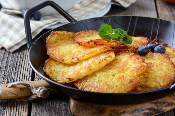 Frittelle di patate e wurstel