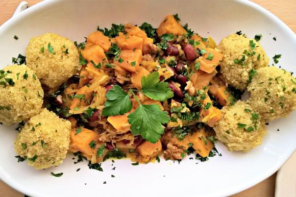 Quinoa con ragù di verdure