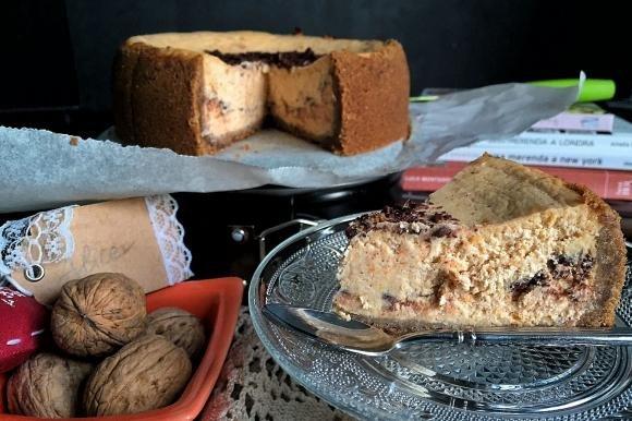 Cheesecake alla zucca con noci e cannella