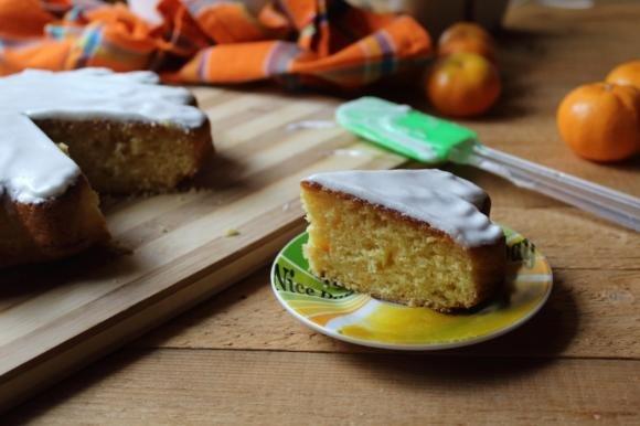 Torta ai mandarini con glassa