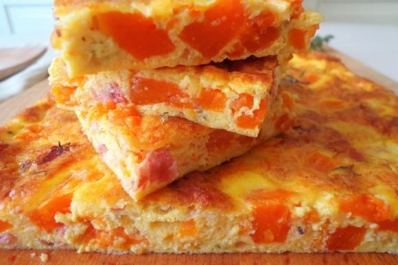 Frittata al forno con zucca e speck