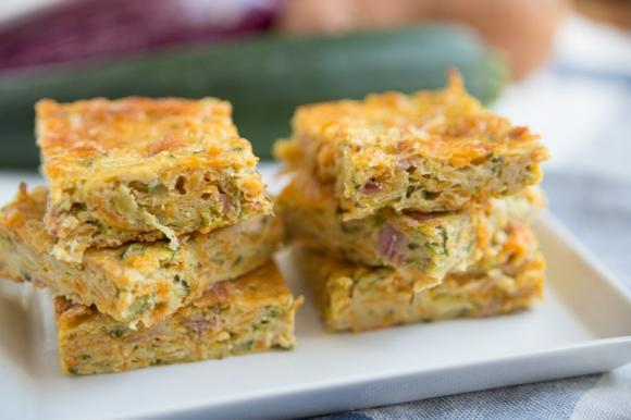 Frittata di zucchine e cipolle al forno