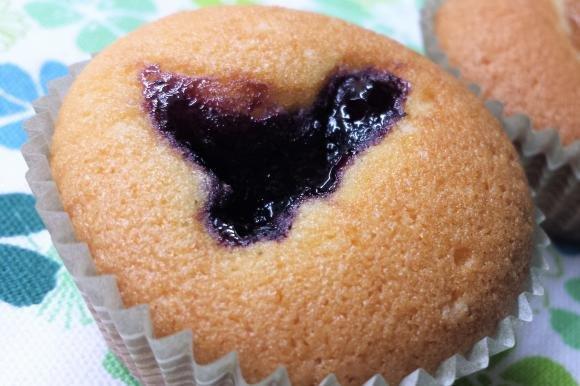 Mini muffin senza burro con farina di riso e marmellata