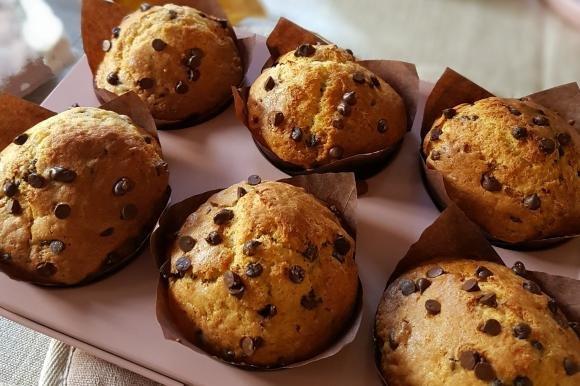 Muffin con gocce di cioccolato e yogurt greco