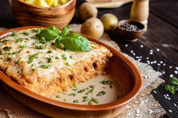 Sformato di riso con pomodoro e formaggio