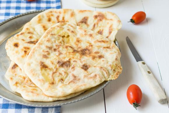 Pane naan alle patate
