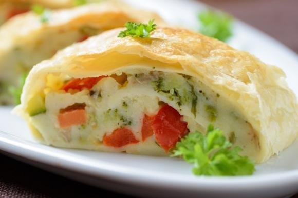 Strudel salato con verdure