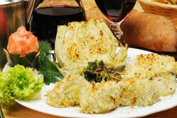Finocchi gratinati al parmigiano