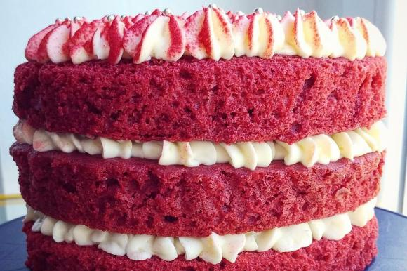 Red Velvet senza glutine con creamcheese al limone
