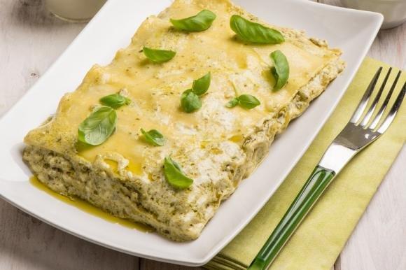 Lasagne con pesto di pistacchi