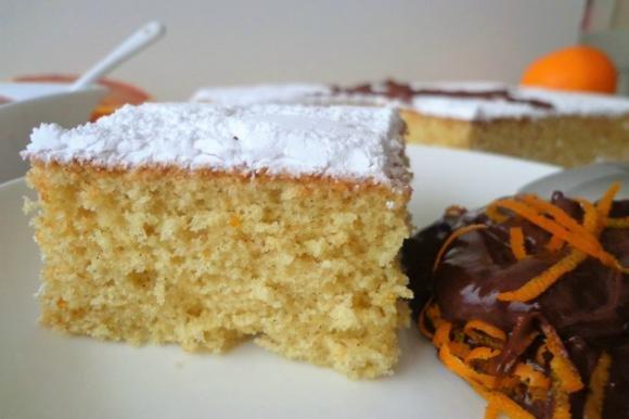 Schiacciata fiorentina con crema di cioccolato all'arancia