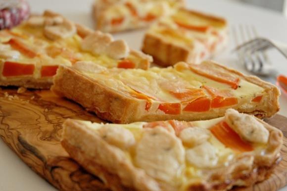 Torta di carote, emmental e arancia ai semi di finocchio