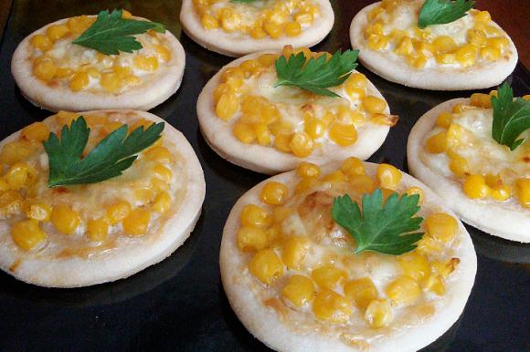 Pizzette mimosa al profumo di limone